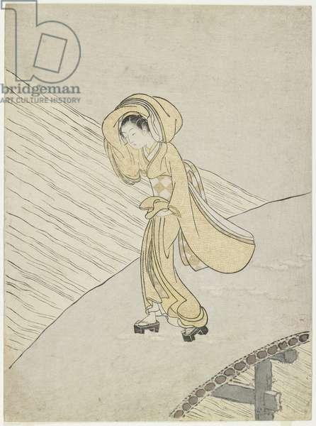 "Mitate of Fujiwara no Teika's Poem ""Crossing the Sano"", 1765"