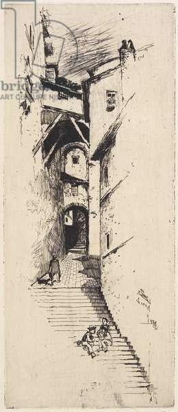Street of Stairs, Siena, 1883