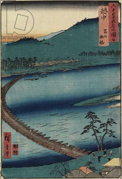 Boat Bridge at Toyama, Etchu_ Province, September 1853