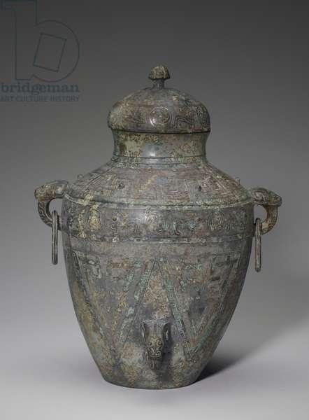 'Lei' wine vessel, 1300-1201 BC (bronze)