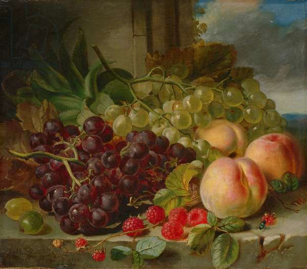 Still Life with Fruit, 1862 (oil on canvas)