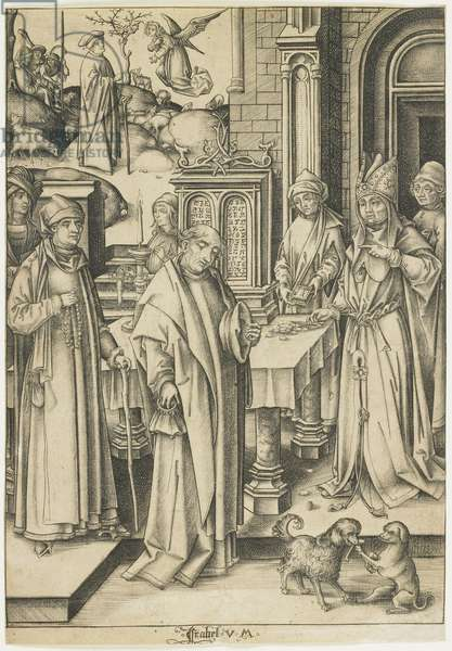 High Priest Refusing Joachim's Offering, c. 1490-1500