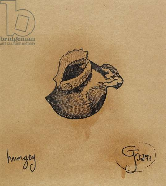 Hungry, 1971 (pen & ink)