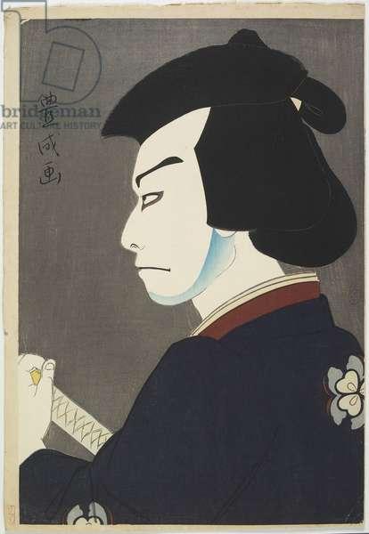 Actor Nakamura Kichiemon I as Hoshikage Doemon, 1921 (colour woodblock print)