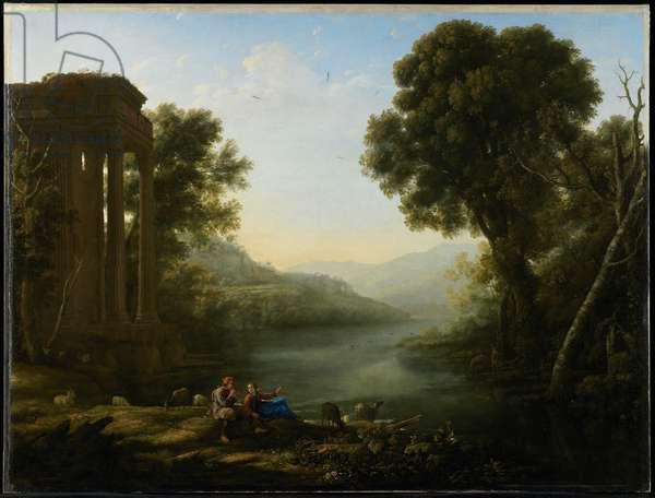 Pastoral Landscape, 1638 (oil on canvas)