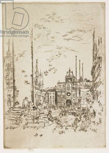 """The Piazetta, plate from """"The Second Venice Set or Twenty-Six Etchings"""", 1879-1880"""