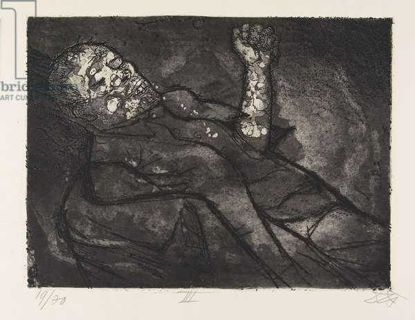 Toter im Schlamm (Dead Man in Mud), plate 23 from Der Krieg (The War), 1924