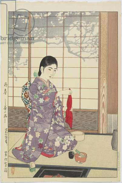 Tea Ceremony in Early Spring, 1932