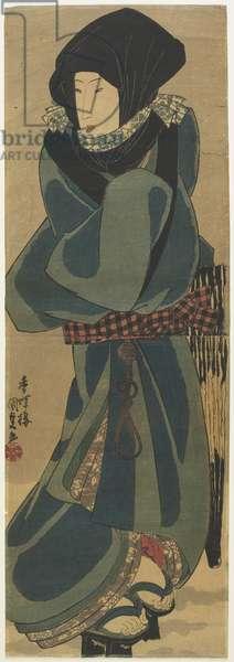 (Woman in Cloak and Hood), c. 1830-1844