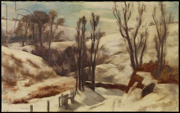 Road through the Hollow, 1938 (oil on canvas)