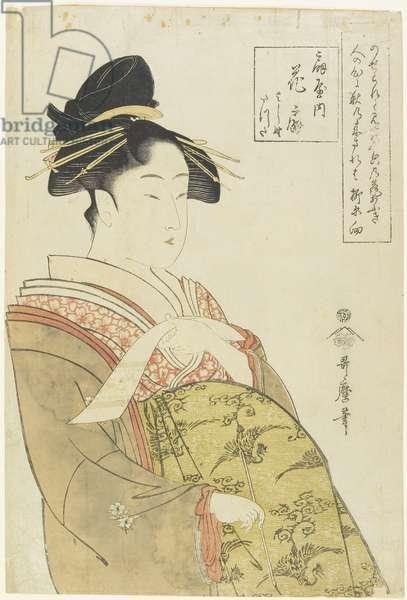 The Courtesan Hanao_gi of the O_giya House, c. 1793-1794