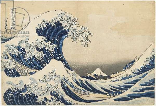 Under the Wave off Kanagawa, 1831-34 (colour woodblock print)