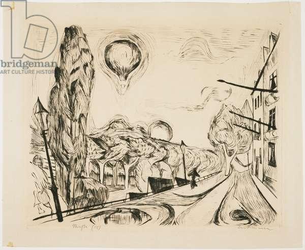 Landschaft mit Ballon (Landscape with Balloon), 1918