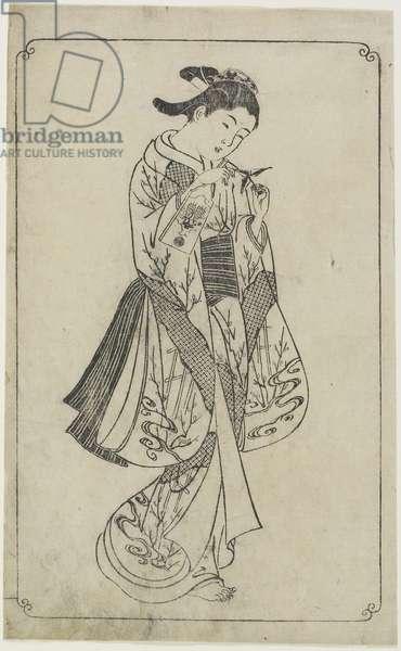 (Courtesan Holding a Battledore), 1739