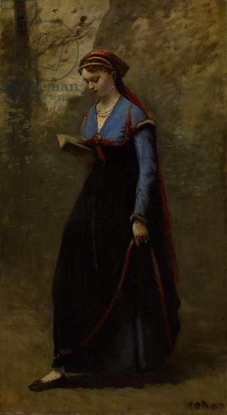 The Reader, 1868 (oil on canvas)