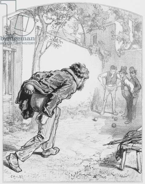 """Les boules, Plate 11 from """"Les Toquades"""", 1858"""