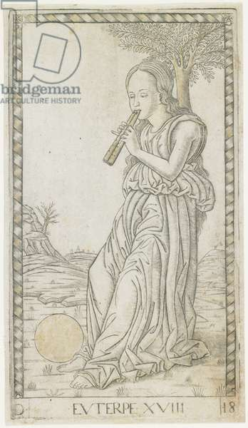 Euterpe, c.1465 (engraving heightened with gold)