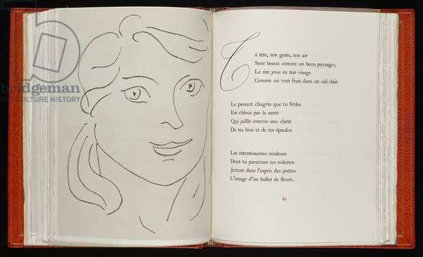 Fleurs du mal, 1947 (etching, litho & letterpress)