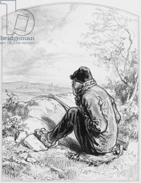 "L'affût, Plate 5 from ""Les Toquades"", 1858"