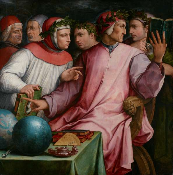 Six Tuscan Poets, 1544 (oil on panel)