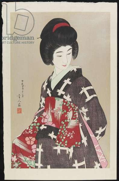 Obi, November 1929 (colour woodblock print)