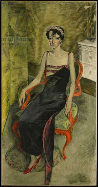 Portrait of Mrs. Charles Bolles Rogers, 1925 (oil on canvas)