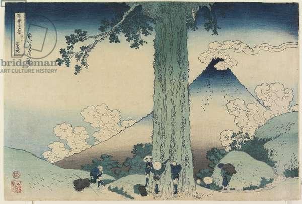 Mishima Pass in Kai Province, 1831-34 (colour woodblock print)