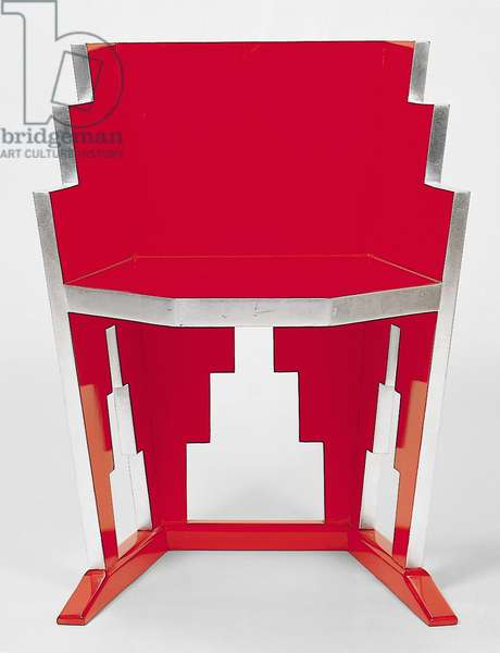 'Skyscraper' chair, c.1927-30 (lacquer & silver leaf on wood)