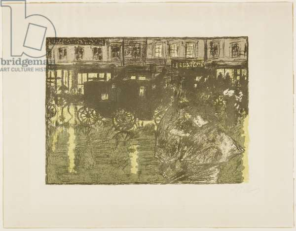 Street at Night in the Rain, c. 1896-1897 (published 1899)