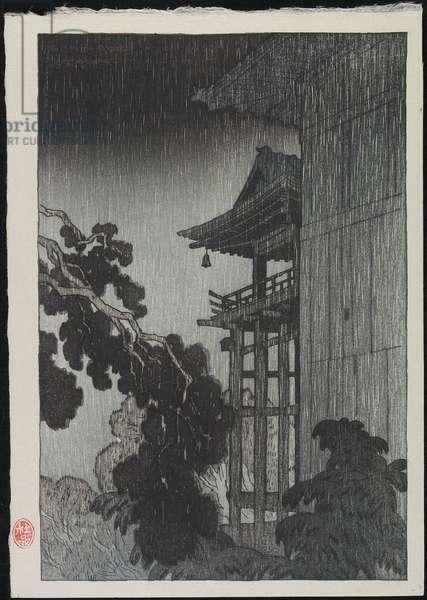 Mii Temple (colour woodblock print)