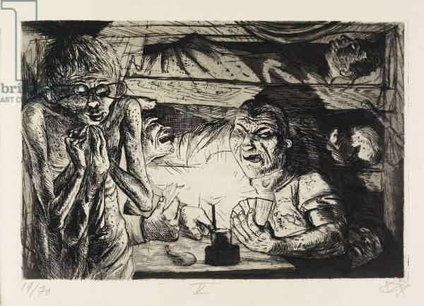 Unterstand (Fox Hole), plate 45 from Der Krieg (The War), 1924