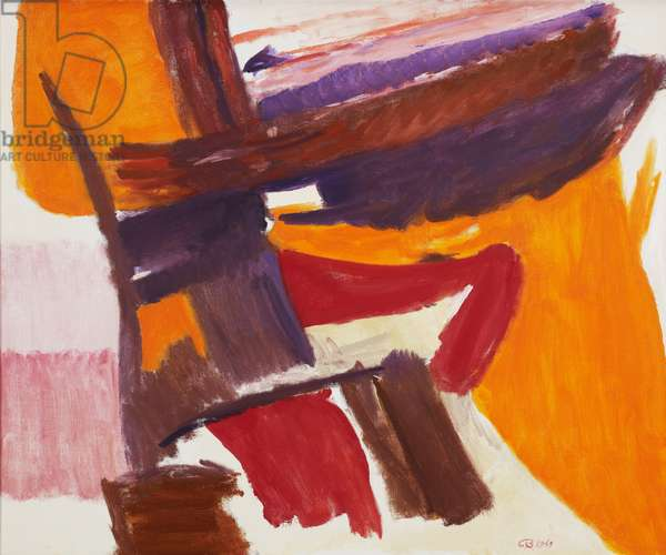 Orange, Red, Violet on White Ground, 1969 (oil on canvas)