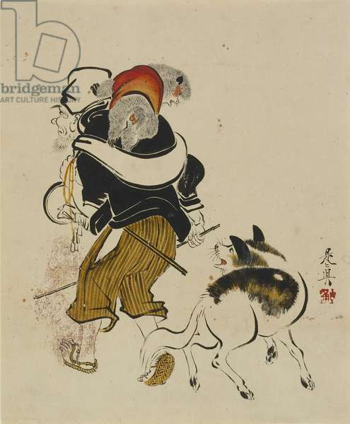 (Monkey Trainer and Dog), mid to late 19th century