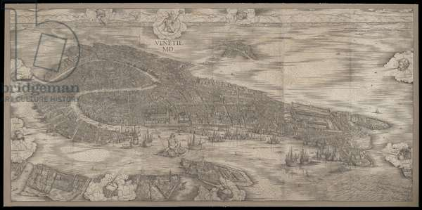 View of Venice, 1500 (woodcut)