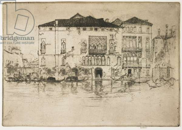 """The Palaces from """"The First Venice Set"""", 1879-1880"""