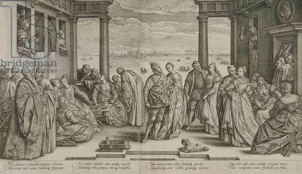 The Venetian Wedding, 1584 (engraving)