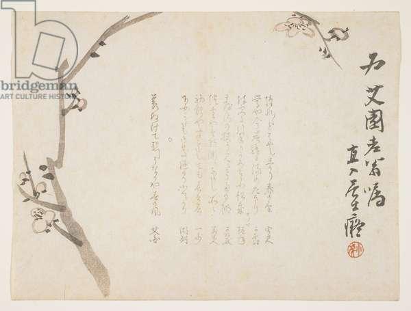 Plum blossoms, c.1848-53 (colour woodblock print)