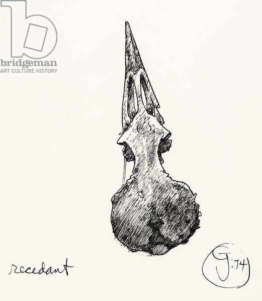 Recedent, 1974 (pen & ink)