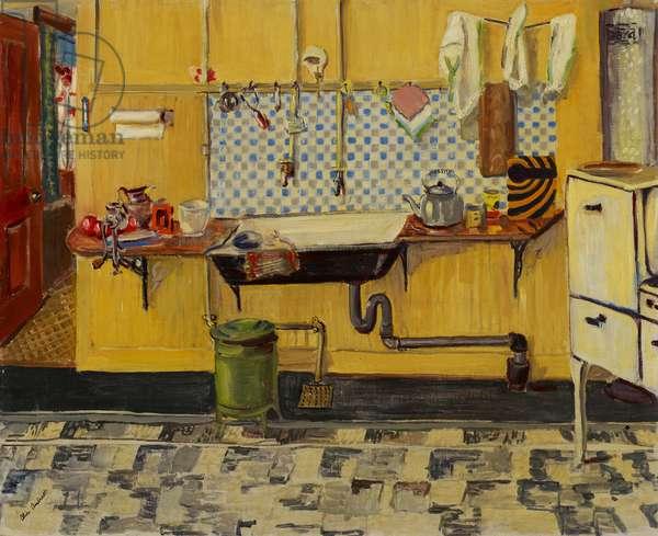 Kitchen (oil on canvas)