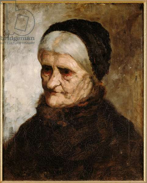 Head of an Old Woman, 1881 (oil on canvas)