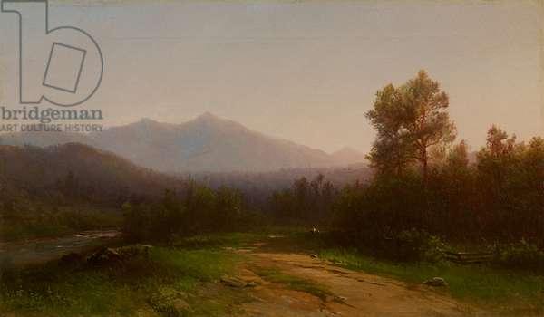 Hudson River Landscape, c.1860-5 (oil on canvas)