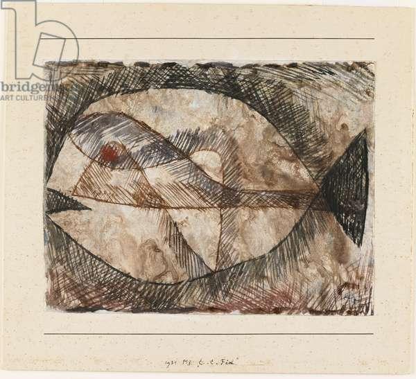 C. - C. = Fisch, 1931 (w/c & ink on gesso ground)