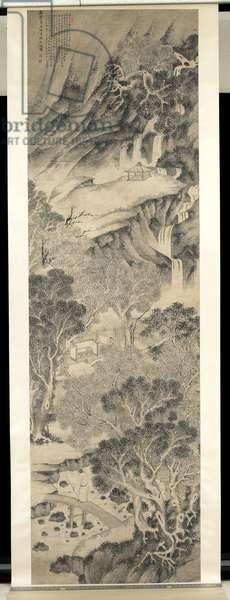 Scholar in Landscape, 1601 (ink on paper)