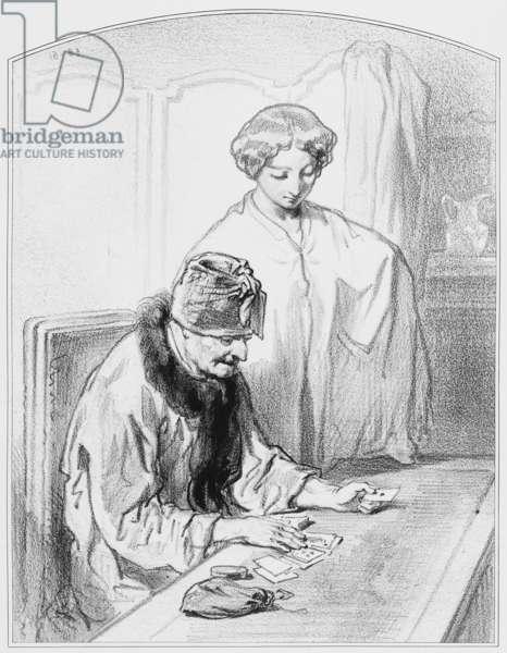 """La réussite, Plate 12 from """"Les Toquades"""", 1858"""