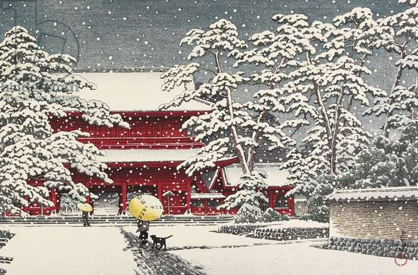 Snow at Zo_jo_ji Temple, December 1929