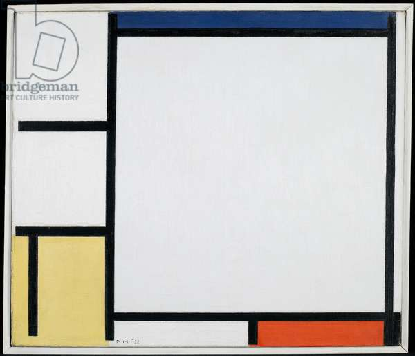 Composition with Blue, Red, Yellow and Black, 1922 (oil on canvas)