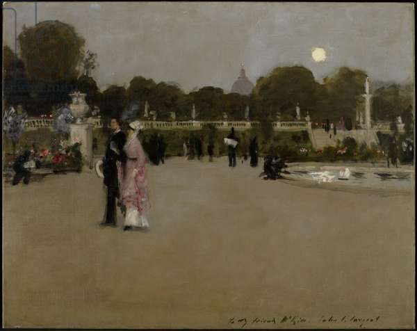 Luxembourg Gardens at Twilight, 1879 (oil on canvas)