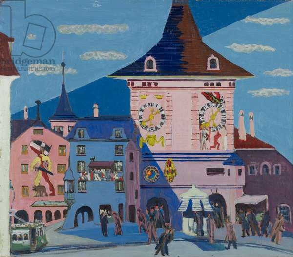 Bern with Belltower, 1935 (oil on canvas)