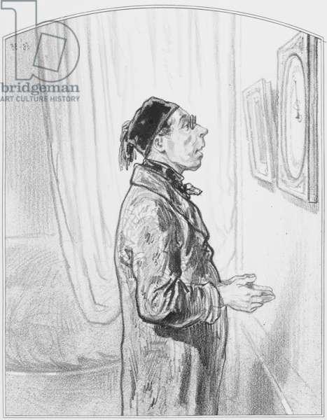 "Le baromètre, Plate 6 from ""Les Toquades"", 1858"