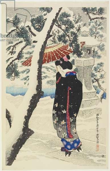 Snow at the Shrine, 1930